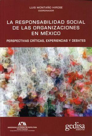 LA RESPONSABILIDAD SOCIAL DE LAS ORGANIZACIONES EN MÉXICO