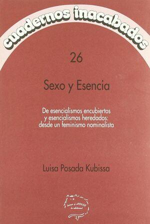 SEXO Y ESENCIA